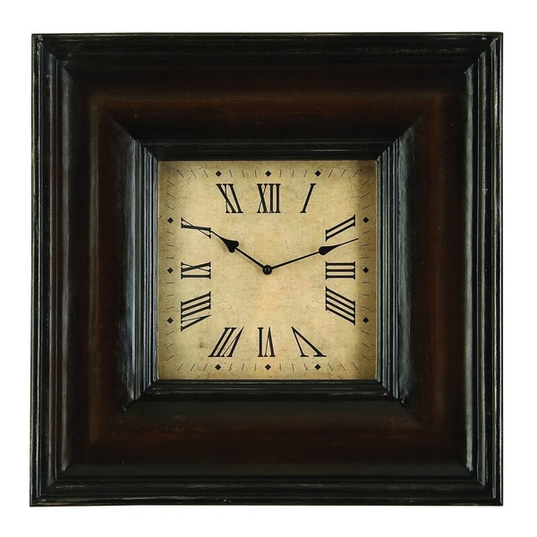 Rectangular Shape Wood Clock