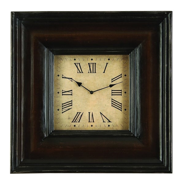 Shop Rectangular Shape Wood Clock Overstock 9528190