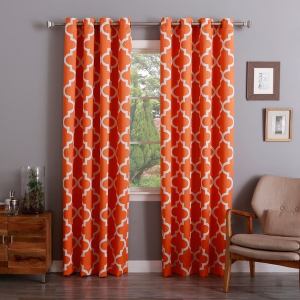 Aurora Home Moroccan Tile 96 Inch Window Curtain Panel Pair