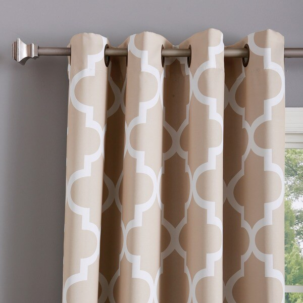 Aurora Home Moroccan Tile 96 Inch Window Curtain Panel Pair   Free Shipping  Today   Overstock.com   16706904