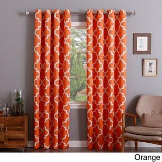 Aurora Home Moroccan Tile 96-inch Window Curtain Panel Pair