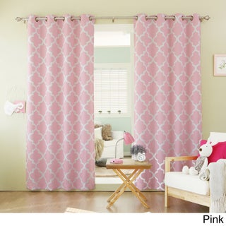 Aurora Home Moroccan Tile 96-inch Window Curtain Panel Pair (3 options available)