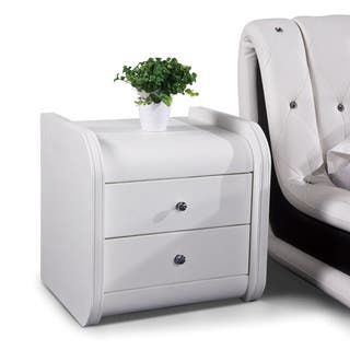 White faux leather nightstand sevenstonesinc faux leather nightstands bedside tables for less watchthetrailerfo