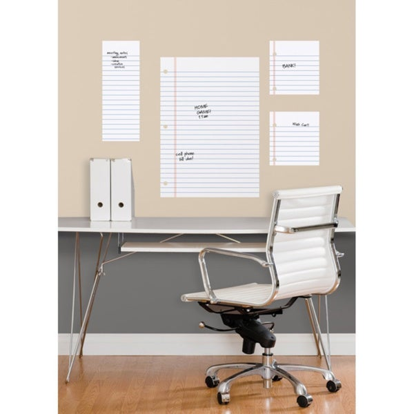 Notebook paper dry erase peel and stick giant wall decals for 8 sheet giant wall mural