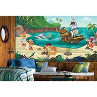 Jake and the Never Land Pirates XL Chair Rail Prepasted Mural 6' x 10.5' - Ultra-strippable