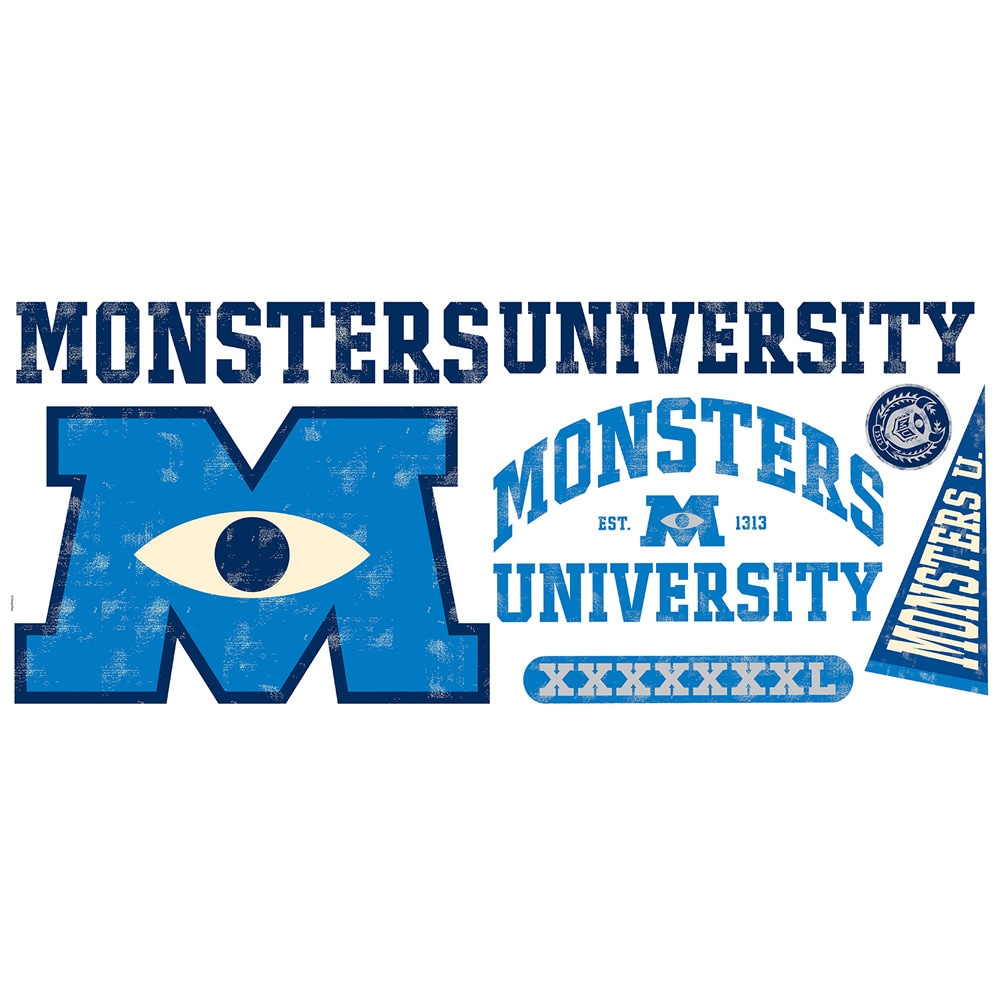 RoomMates Monsters University Giant Peel & Stick Wall Dec...