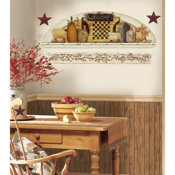 Country Kitchen Wall Decor: Shop Primitive Arch Peel & Stick Wall Decals