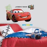 Cars 2 Lightening Peel & Stick Giant Wall Decal w/Personalization
