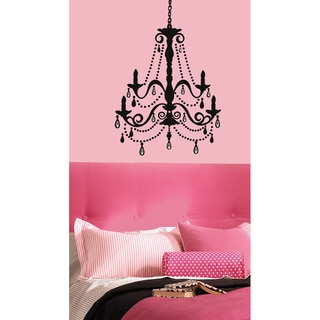Chandelier w/Gems Peel & Stick Giant Wall Decal
