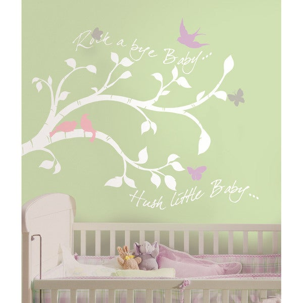 Shop Rock A Bye Bird Branch Peel Amp Stick Giant Wall Decals