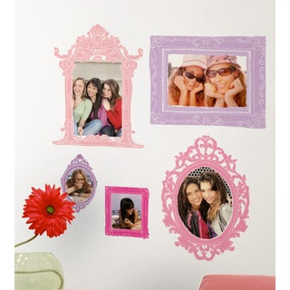 Pink & Purple Frames Peel & Stick Giant Wall Decals