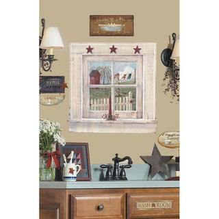 Outhouse Window and Signs Peel & Stick Giant Wall Decal