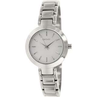 DKNY Women's Stanhope NY8831 Stainless Steel Analog Quartz Watch with Silver Dial