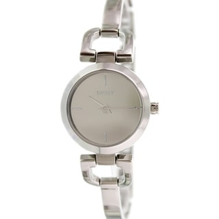 DKNY Women's NY8869 Stainless Steel Analog Quartz Watch with Grey Dial