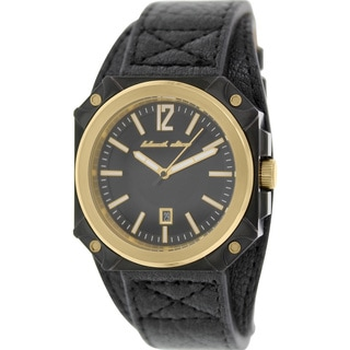 Black Dice Men's Graduate BD-070-03 Black Leather Analog Quartz Watch with Black Dial