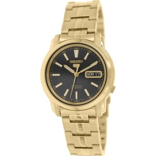 Seiko Men's 5 Automatic SNKL88K Gold Stainless-Steel Automatic Watch with Black Dial