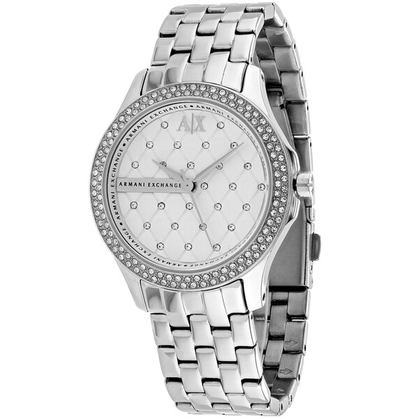 Armani Exchange Women's AX5215 Silver Stainless-Steel Quartz Watch with Silver Dial