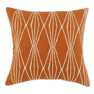Handcut Shapes Orange Crush 17-inch Throw Pillow