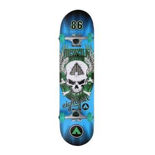 Airwalk Undone Series Skateboard- Blue Skull