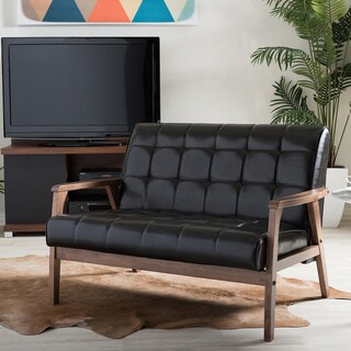 Carson Carrington Karkkila Mid-century Brown Loveseat