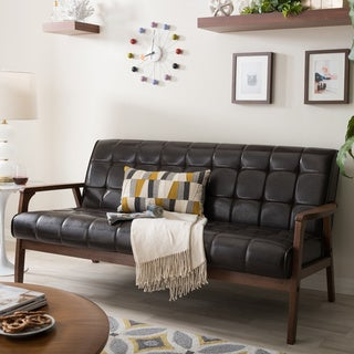 Baxton Studio Mid-Century Masterpieces Sofa in Brown
