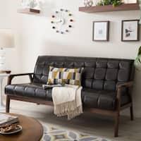 Carson Carrington Karkkila Brown Mid-Century Sofa