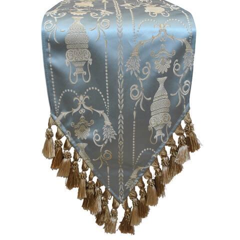 Sherry Kline Vase Blue Luxury Table Runner