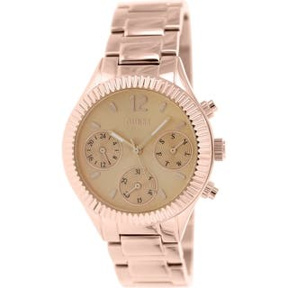 Guess Women's U0323L3 Rose Goldtone Stainless Steel Quartz Watch with Rose Gold Dial|https://ak1.ostkcdn.com/images/products/9529766/P16709774.jpg?impolicy=medium