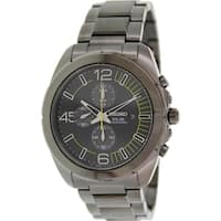 Seiko Men's SSC217 'Solar' Chronograph Black Stainless Steel Watch - N/A