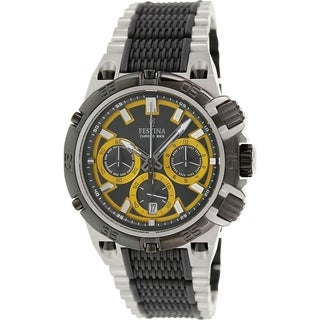 Festina Men's Chrono Bike F16775/7 Two-tone Stainless Steel Quartz Watch with Black Dial