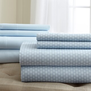 Amraupur Overseas Printed and Solid 8-piece Sheet Set