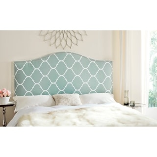 Safavieh Connie Bluestone Moroccan Pattern Camelback Headboard - Silver Nailhead (Queen)