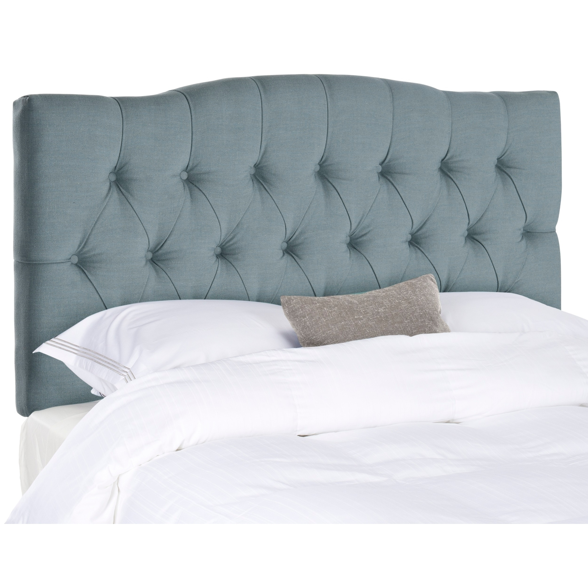 Picture of: Shop Safavieh Axel Sky Blue Upholstered Tufted Headboard King Overstock 9529863
