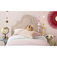 Safavieh Kerstin Taupe Linen Upholstered Arched Headboard (Twin)