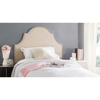Safavieh Hallmar Hemp Linen Upholstered Arched Headboard - Silver Nailhead (Twin)