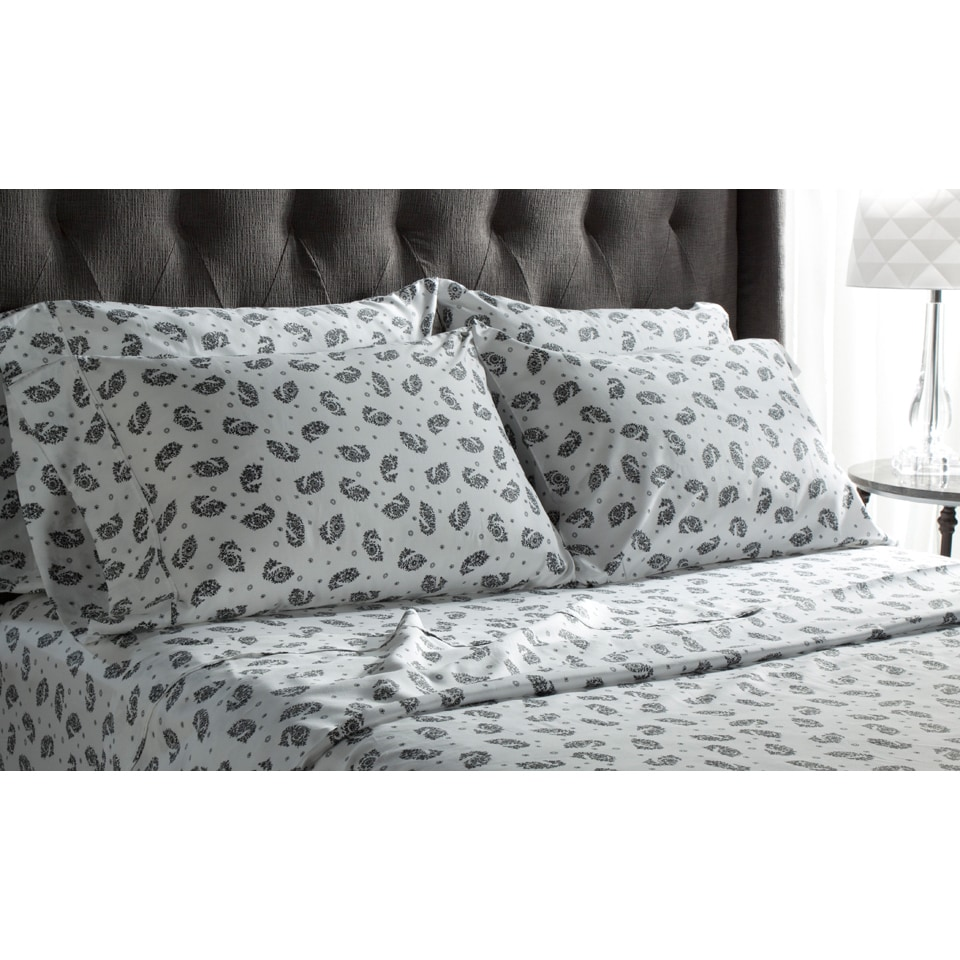 Black, Printed Bed Sheets | Find Great Sheets U0026 Pillowcases Deals Shopping  At Overstock.com