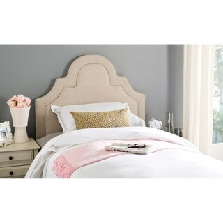 Safavieh Kerstin Hemp Linen Upholstered Arched Headboard (Twin)