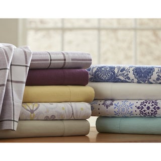 Superior Ultra-soft Heavyweight Flannel Solid or Print Deep Pocket Cotton Sheet Set