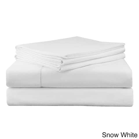 Superior Ultra-soft Heavyweight 200-GSM Flannel Solid or Print Deep Pocket Cotton Bed Sheet Set