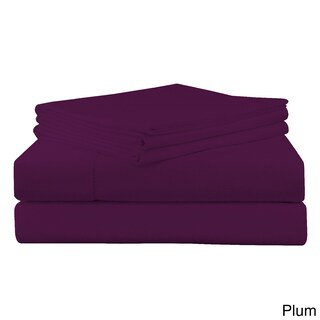 Superior Ultra-soft 200 GSM Heavyweight Flannel Solid or Print Deep Pocket Cotton Sheet Set (Option: Twin XL - Plum)