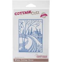 CottageCutz Elites Die -Winter Cottage Scene