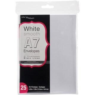 "A7 Cards (5""X7"") 25/Pkg-White"