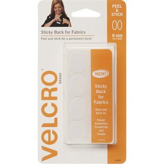 """VELCRO(R) Brand STICKY BACK For Fabric Ovals 1""""X.75""""-White"""