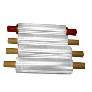 Stretch Wrap with Pre-attached Handles 1000 Feet Long x 15 Inches Wide 80 Ga - 4 Rolls