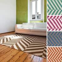 Flatweave Lugano Striped Wool Area Rug (3'6 x 5'6)
