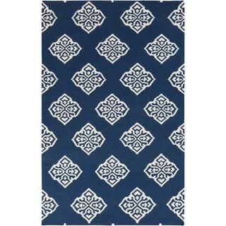 Flatweave Raphael Wool Area Rug (8 x 11 - Blue)