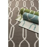 Hand Woven Thelma Wool Geometric Area Rug - 5' x 8'