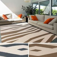 Hand-woven Rosdale Reversible Wool Area Rug (8' x 11')