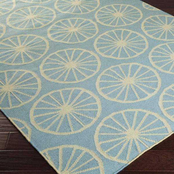 Hand-woven Carlotta Flatweave Wool Area Rug (5' x 8')