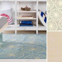 Hand-woven Carlotta Flatweave Wool Area Rug (8' x 11')